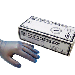 Disposable Blue Vinyl Gloves Large Protective Gloves