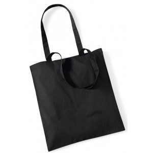 Black Cotton Bags Long Handle