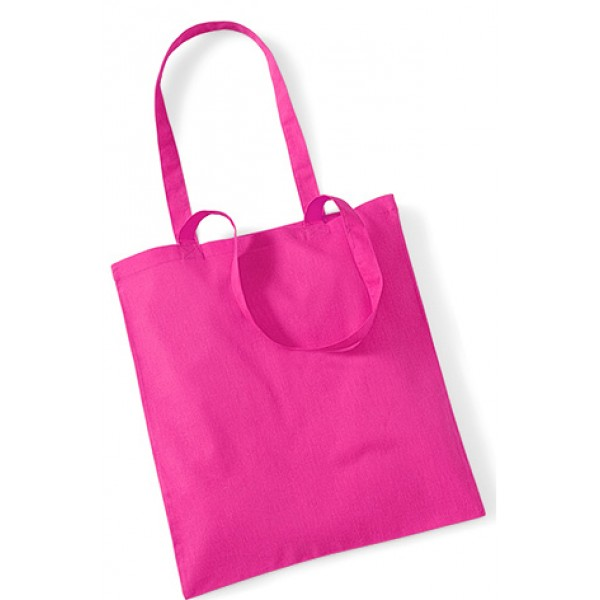 Fuchsia Cotton Bags Long Handle