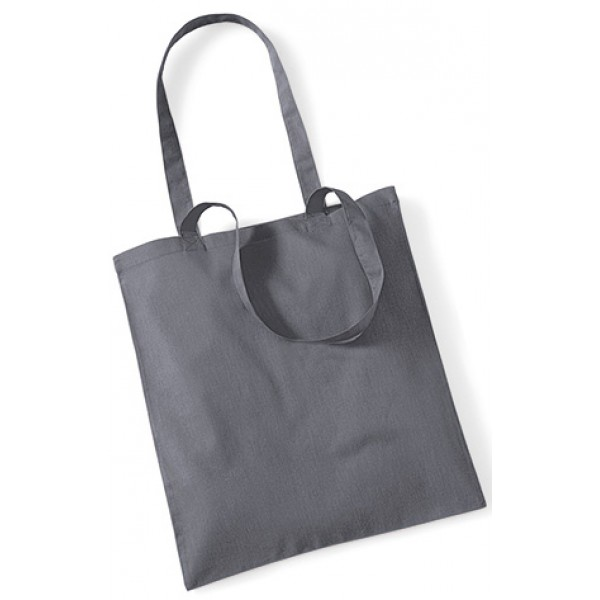 Grey Cotton Bags Long Handle