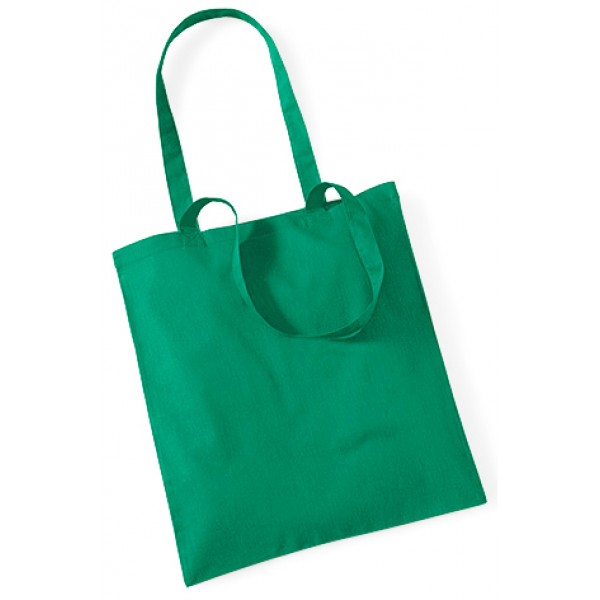 Green Cotton Bags Long Handle