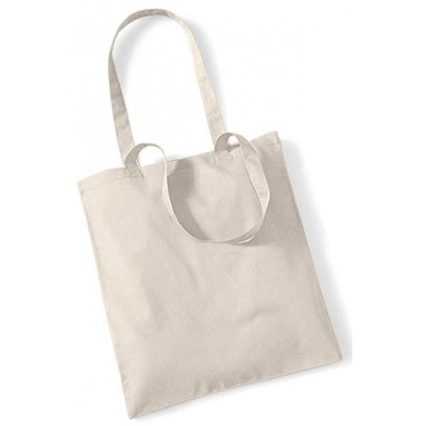 Natural Cotton Bags Long Handle