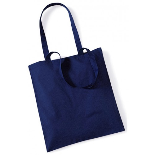Blue Cotton Bags Long Handle