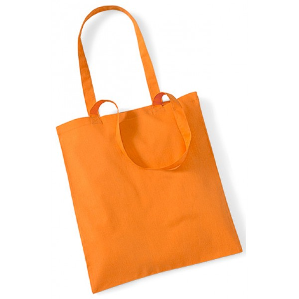 Orange Cotton Bags Long Handle