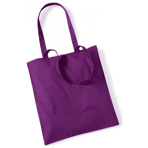 Purple Cotton Bags Long Handle
