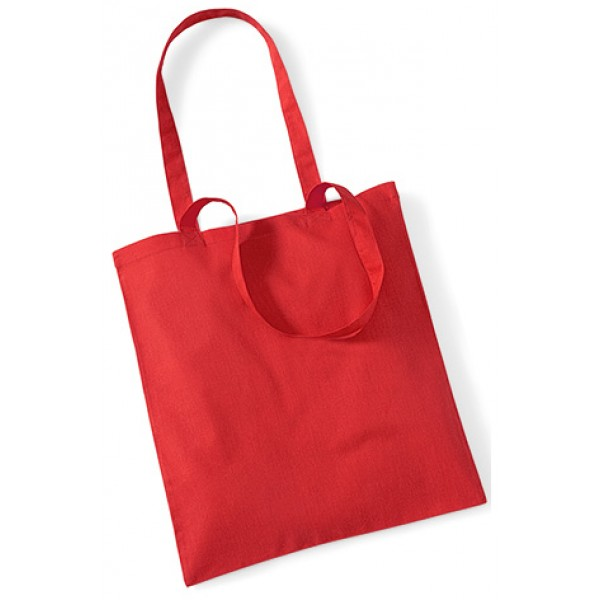 Red Cotton Bags Long Handle