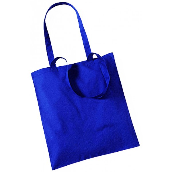 Royal Blue Cotton Bags Long Handle