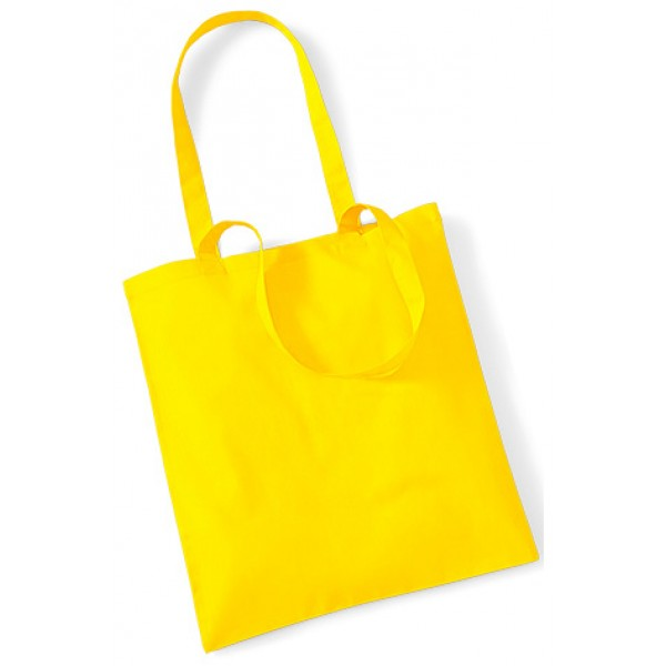 Yellow Cotton Bags Long Handle
